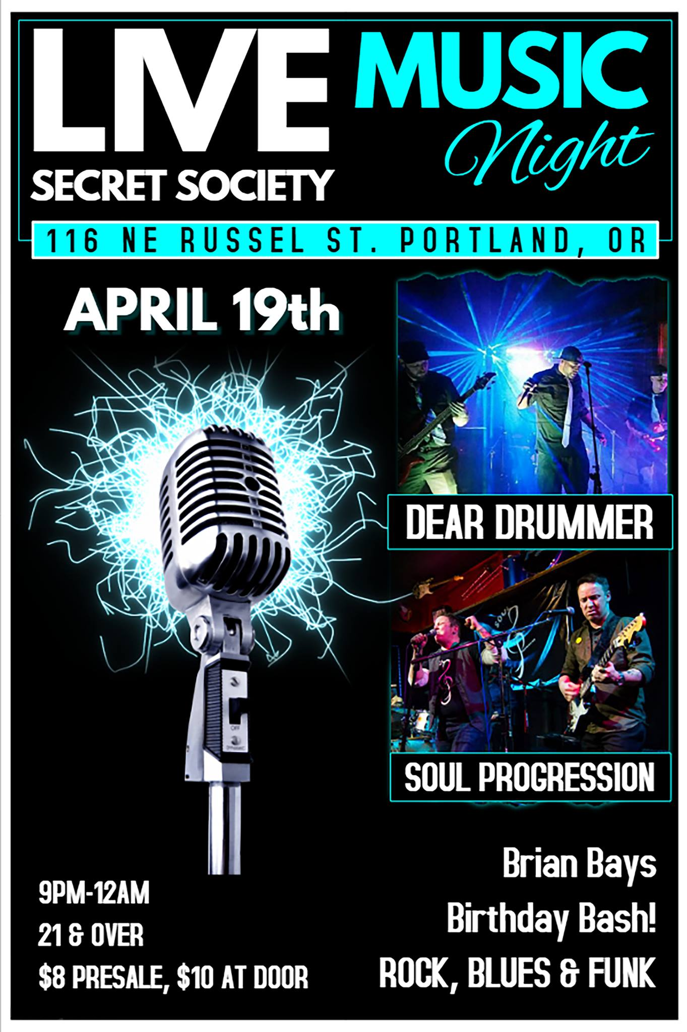 Dear Drummer Show Poster - Secret Society